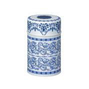 Blue - Dur steel tea caddy can