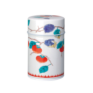 Navy - Arita Persimmon steel tea caddy can