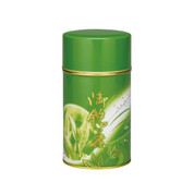 S(Low) - Authentic green sateel tea caddy can