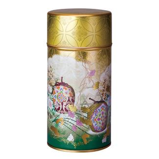 Green - Rikyu palace steel tea caddy can