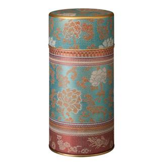 Blue - Treasure band steel tea caddy can