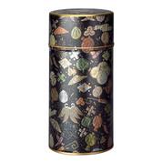 Black - Tamaori steel tea caddy can