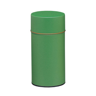 S/Green - Crepe steel tea caddy can
