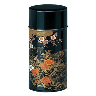 Black - Koetsu steel tea caddy can