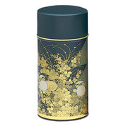Green - Bush clover steel tea caddy can