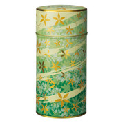 Green - Hana-asobi steel tea caddy can
