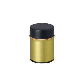 SS - Gold steel tea caddy can