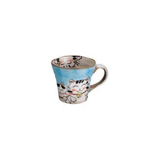 Mino-yaki Teacup - Maneki-neko Lucky cat