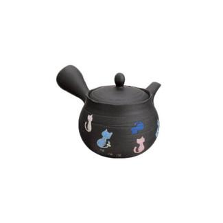 Tokoname-yaki Cat kyusu teapot - HAKUYO - 300cc/ml - Sawayaka stainless steel net
