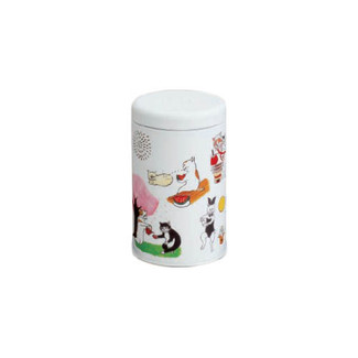 Cat Tea can - steel tea storage caddy - for tea leaf