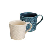 Hasami-yaki Teacup mug set - Rosemary - 2 color - 2 mug