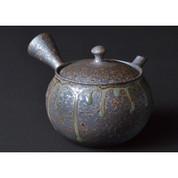Tokoname-yaki - TOKUTA FUJITA - 250cc/ml - kyusu teapot - Sasame ceramic fine mesh