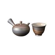 Tokoname-yaki - TOMOHIRO SAWADA - Teapot set - 1 Kyusu, 1 Chawan