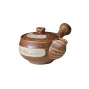 Shigaraki-yaki - YUEI - 360cc/ml - kyusu teapot - Ceramic mesh w box