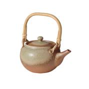 Shigaraki-yaki - GRAY GLAZE - 800cc/ml - Dobin kyusu teapot - Ceramic mesh w box