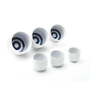 Ochoko standard small sake cup - JANOME - 6 size - Mino ware