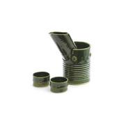 Sake server set - KOUJIN - Bamboo ORIBE - 1 sake server & 1 cooling server - 2 sake cups - Mino ware