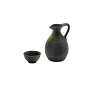 Handle tokkuri sake server bottle set - BIZEN - 1 sake server bottle - 1 sake cup