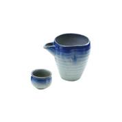 Iced sake server set - GOSUFUKI - 1 sake server - 1 guinomi sake cup - Mino ware
