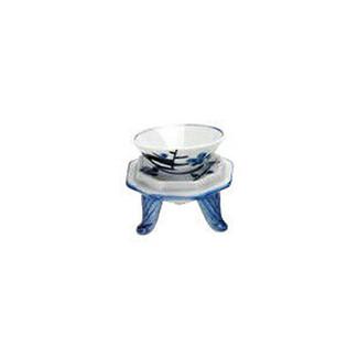 Triangle sake cup set - Plum - 1 sake cup, 1 stand - Mino ware