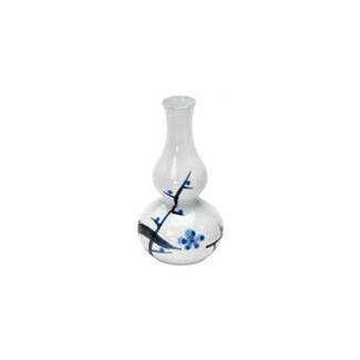 Hisago sake server bottle - Plum - Mino ware