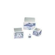 Masu small sake cup set - 3 size sake cups, 1 dice - Mino ware