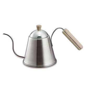 KOGU - Super extra fine 6mm spout - ITTEKI (1.0L) Coffee drip pot with wood handle - IH induction/Gas  safe