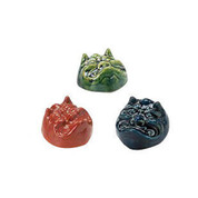 "Oni demon ""holiday for end of winter"" sake cup set - 3 color - Mino ware"
