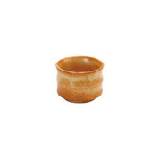 Red Shino - Bamboo muscle Guinomi sake cup 60 ml/cc - Mino ware