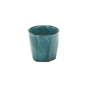 Hexagon sake rock glass 235ml/cc - Turkey Blue - Mino ware