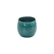 Sake rock glass for Umeshu plum wine 290ml/cc - Turkey Blue - Mino ware
