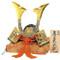 [Superior] Japanese Samurai Kabuto helmet - Peony & Tiger, Dragon - with cushion, box, tag - Japan import
