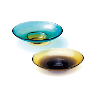 Glass ware - Tsugaru Vidro - Wide rim coupe plate (S) - 2 color