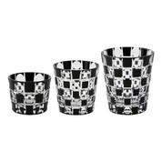 Edo Kiriko - Kuroco Tamaichimatsu - Tokyo glass ware - 3 size