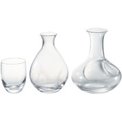Sake carafe & cup - Tokkuri server bottle, Guinomi [A] - sake glass ware