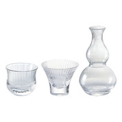 Sake carafe & cup - Tokkuri server bottle, Guinomi [B] - sake glass ware