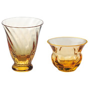 Sakazuki sake cup amber - 2 type - sake glass ware