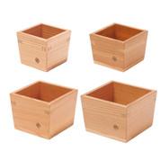 Nikko cedars sake cup - Masu - 4 size - Japanese wooden ware