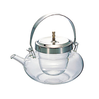 Iced sake pot server - Chirori - Round Silver - sake glass ware