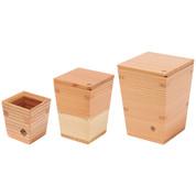 Nikko cedars carafe & cup - Tokkuri server bottle, sakazuki - Japanese wooden ware