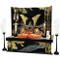 [Heritage set] Japanese Samurai Kabuto helmet - Tiger & Dragon [A] - Stand base, byobu folding screen, and accessories