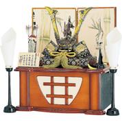 [Heritage set] Japanese Samurai Kabuto helmet - Dragon & Tiger Jin - Stand base, byobu folding screen, and accessories