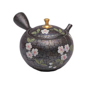 Japanese tea pot - SHORYU - SAKURA Gold Knob - 290cc/ml - ceramic fine mesh - Tokoname kyusu