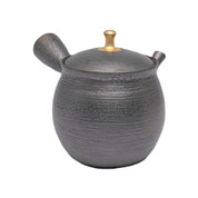 Japanese tea pot - SHORYU - Gold Knob - 380cc/ml - ceramic fine mesh - Tokoname kyusu