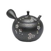Japanese tea pot - SHORYU - SAKURA Black - 300cc/ml - ceramic fine mesh - Tokoname kyusu