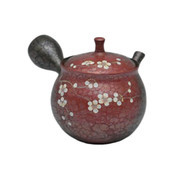 Japanese tea pot - SHORYU - SAKURA Red - 250cc/ml - ceramic fine mesh - Tokoname kyusu