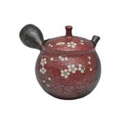 Japanese tea pot - SHORYU - SAKURA Red - 250cc/ml - ceramic fine mesh - Tokoname kyusu