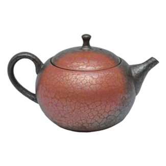 Japanese tea pot - SHORYU - Red & Black - 300cc/ml - ceramic fine mesh - Tokoname kyusu