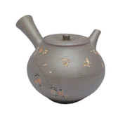Japanese tea pot - SEIHO TSUZUKI - Butterfly & SAKURA High-fired - 330cc/ml - Sasame ceramic fine mesh - Tokoname kyusu with wooden box