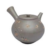 Japanese tea pot - SEIHO TSUZUKI - Butterfly & SAKURA High-fired - 330cc/ml - Sasame ceramic fine mesh - Tokoname kyusu with wooden box